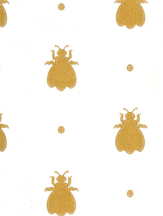Bumble Bee Wallpaper Off white paper with gold bees 534x708
