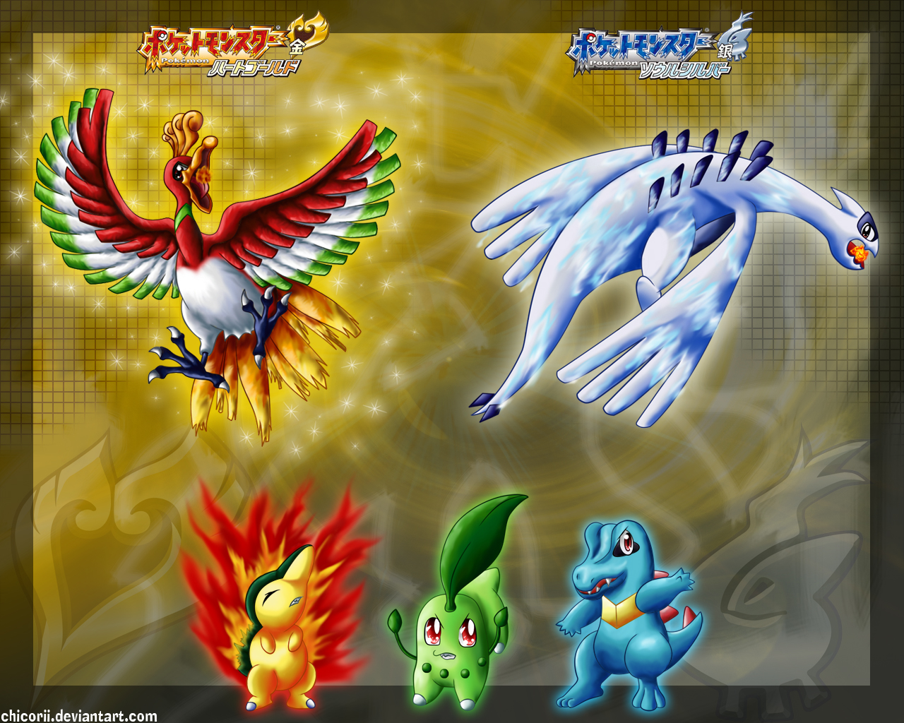 Pokemon Heart Gold and Soul Silver 1280x1024