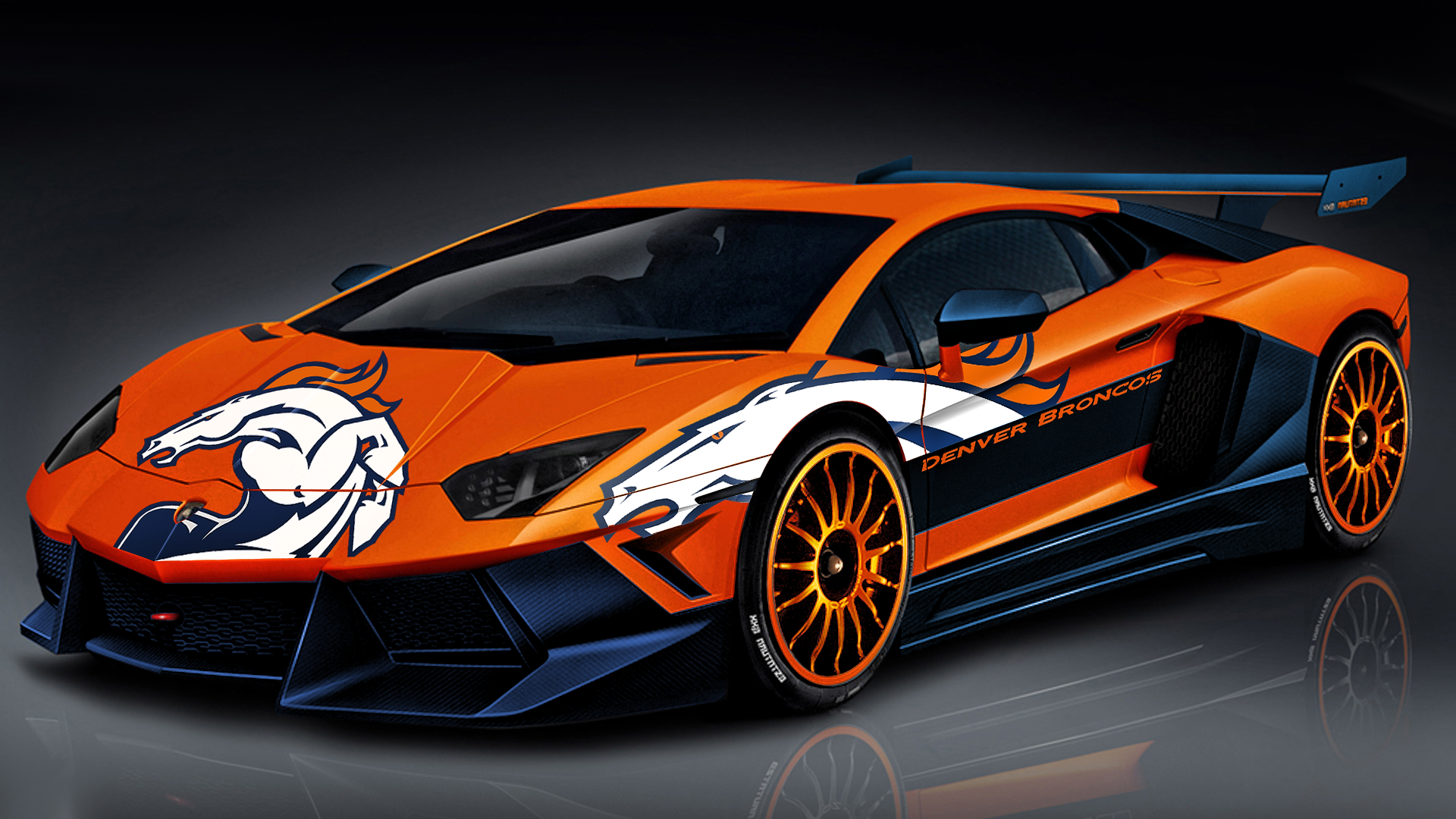 Broncos Lamborghini by DenverSportsWalls 1920x1080