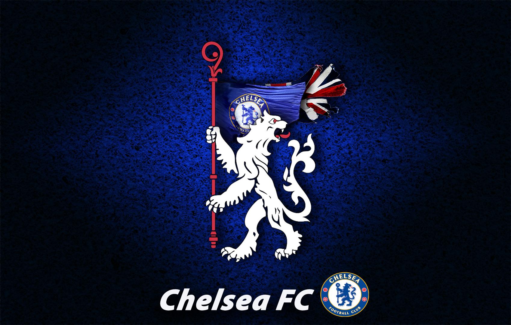 Chelsea FC WP White lion Logo   ImUnionjack Wallpaper 41685140 1699x1081