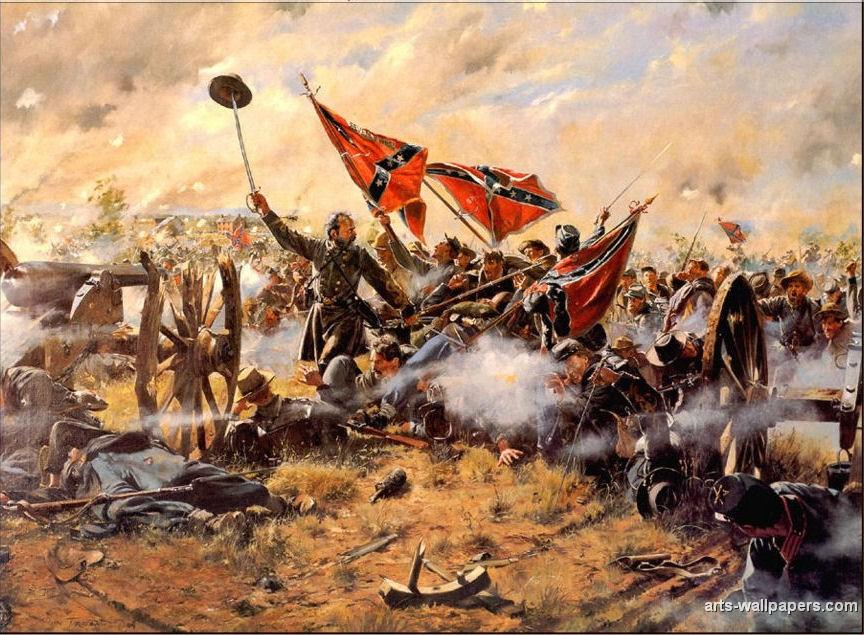 American Civil War Paintings Art Prints Gallery Pictures Artworks 864x635