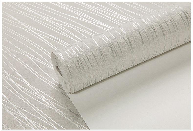 White Cream Silver Grey Strip Line Embossed Textured Wallpaper eBay 790x539