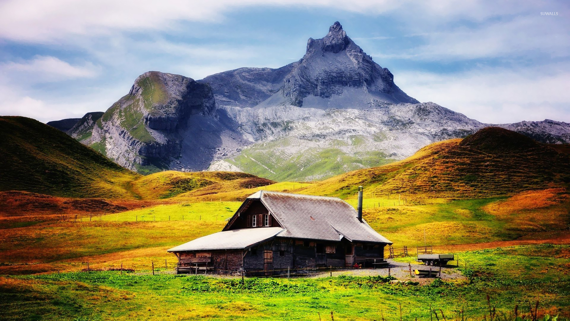 Mountain cabin wallpaper   World wallpapers   21926 1280x800