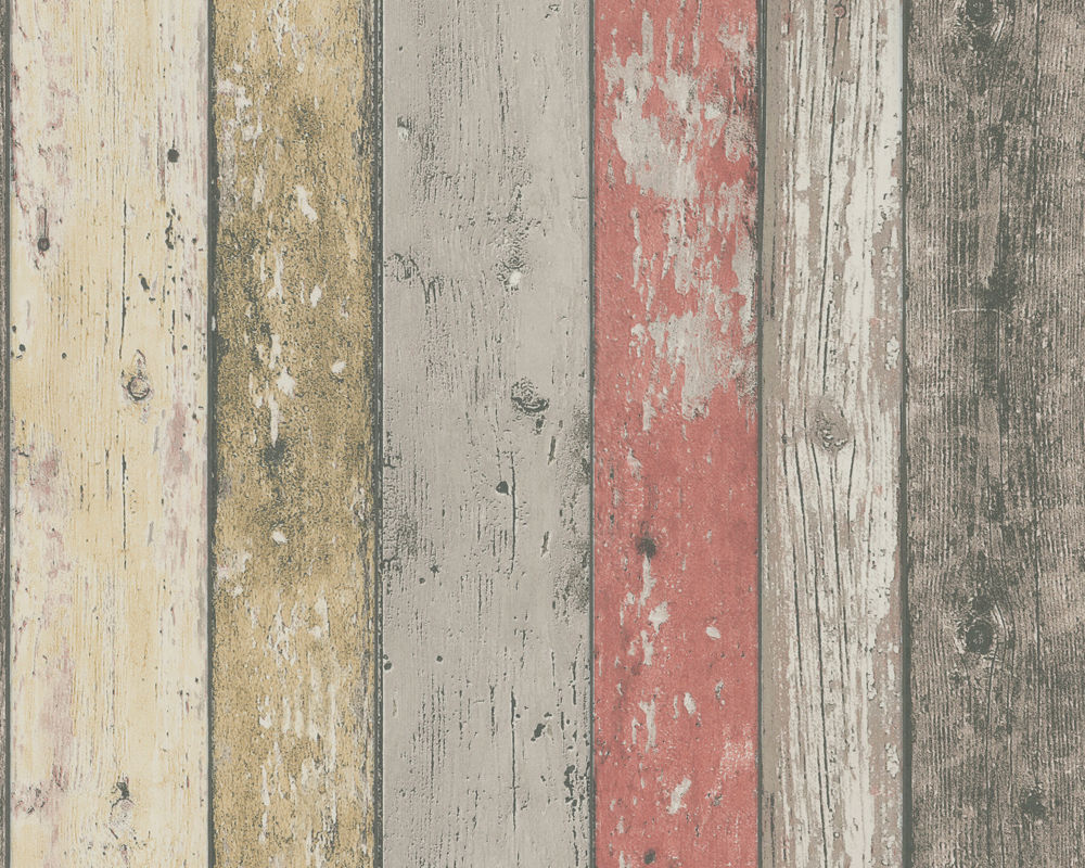 Shabby chic distressed wood wallpaper wallpapersafari for Planche de bois vieilli