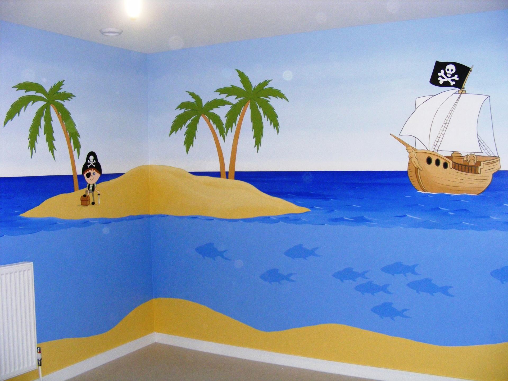 Pirate Ship Wallpaper Mural Wallpapersafari