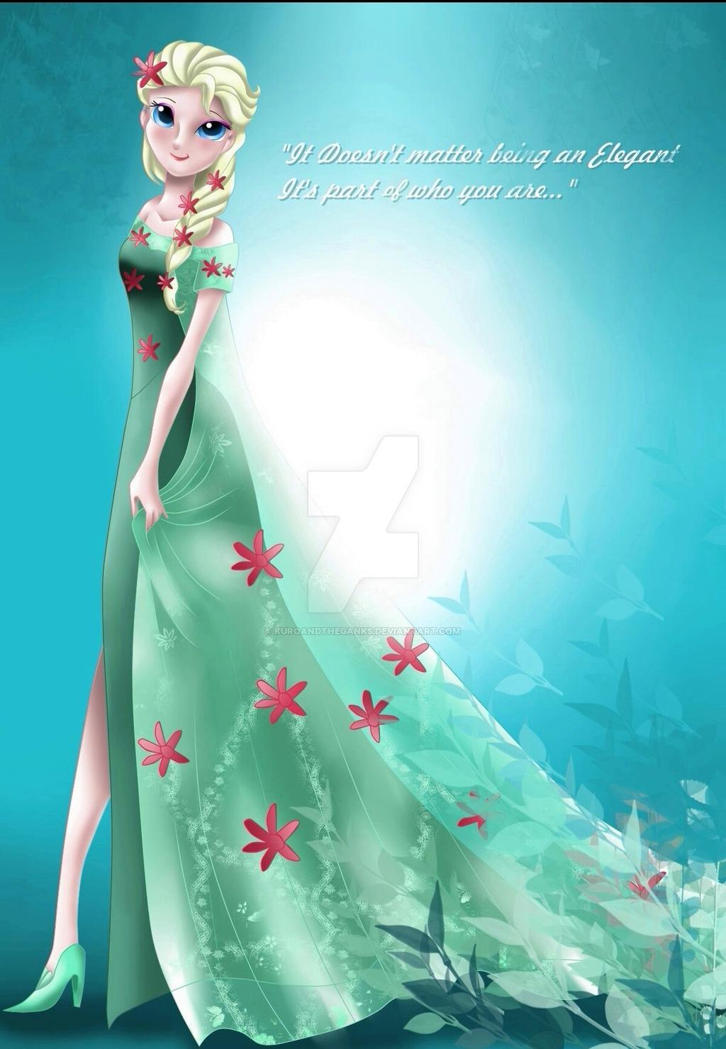 Elsa from Frozen Fever by kuroandtheganks 1024x1480