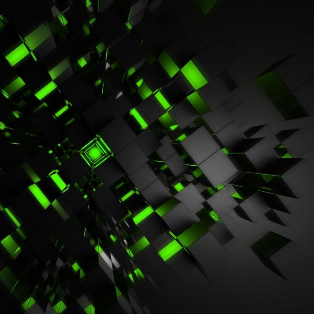 Green 3D Wallpaper