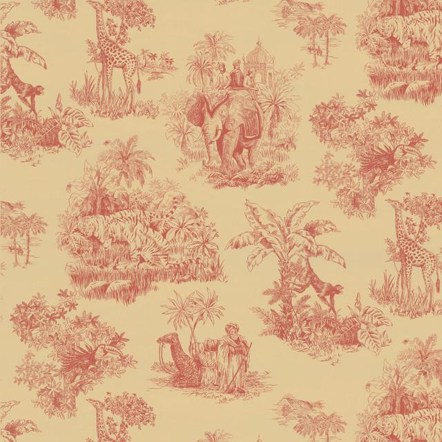 Safari Toile Wallpaper   Contemporary   Wallpaper   by Overstockcom 640x640
