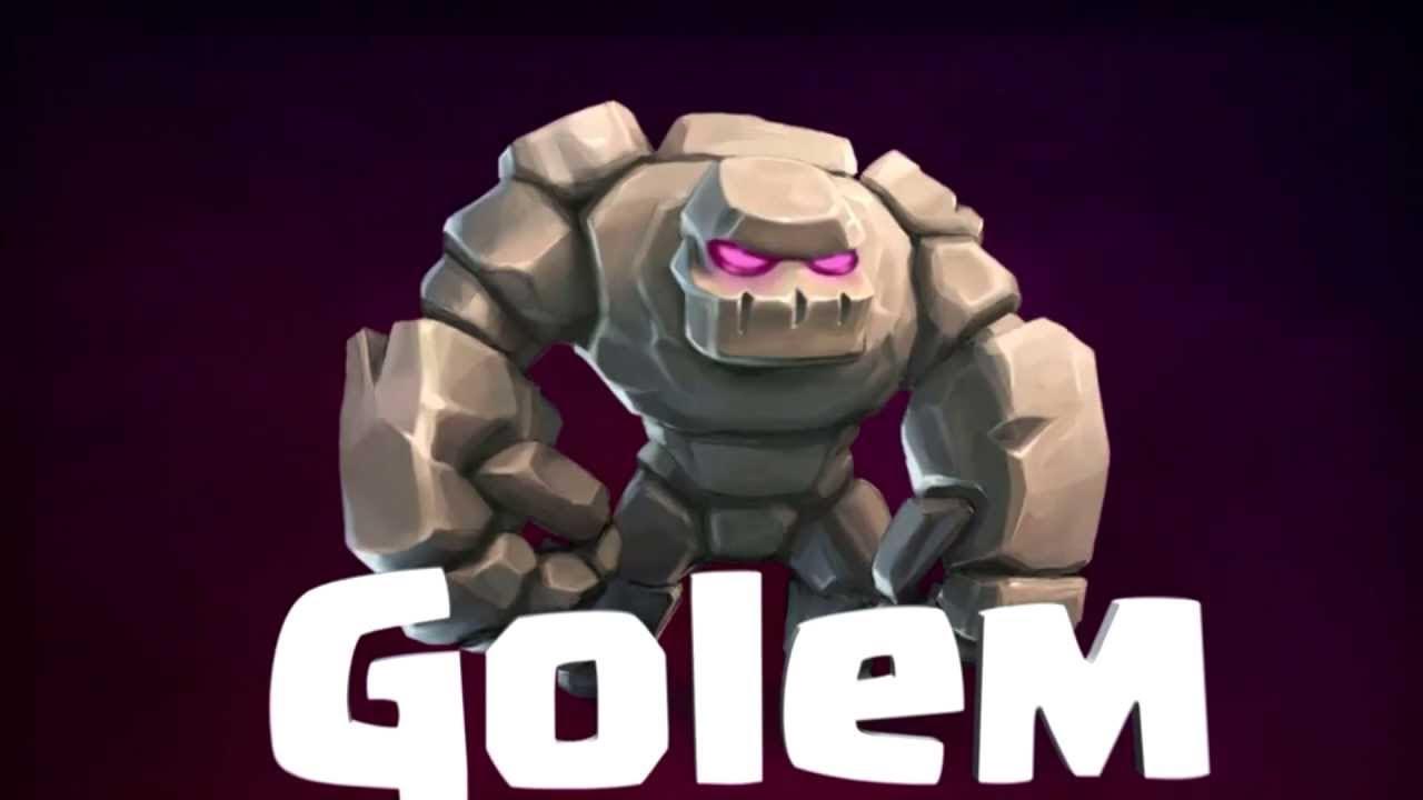 Mazo con Veneno y Golem de Clash Royale 1280x720
