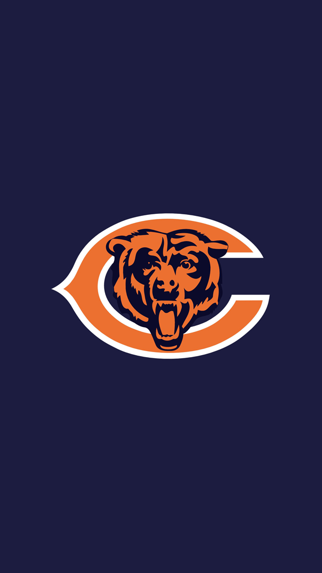 Chicago Bears Wallpaper Hd Chicago bears logo wallpaper 640x1136