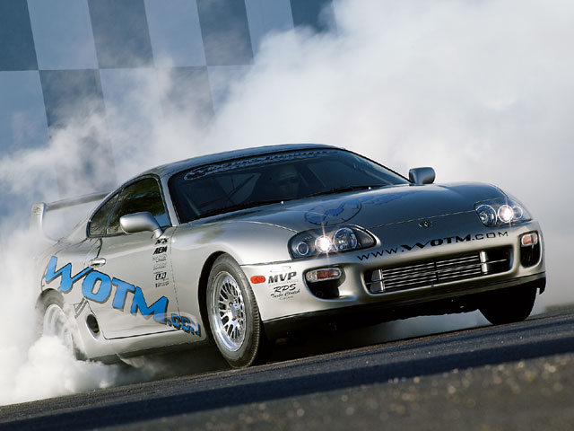 1998 Toyota Supra Burnout 640x480