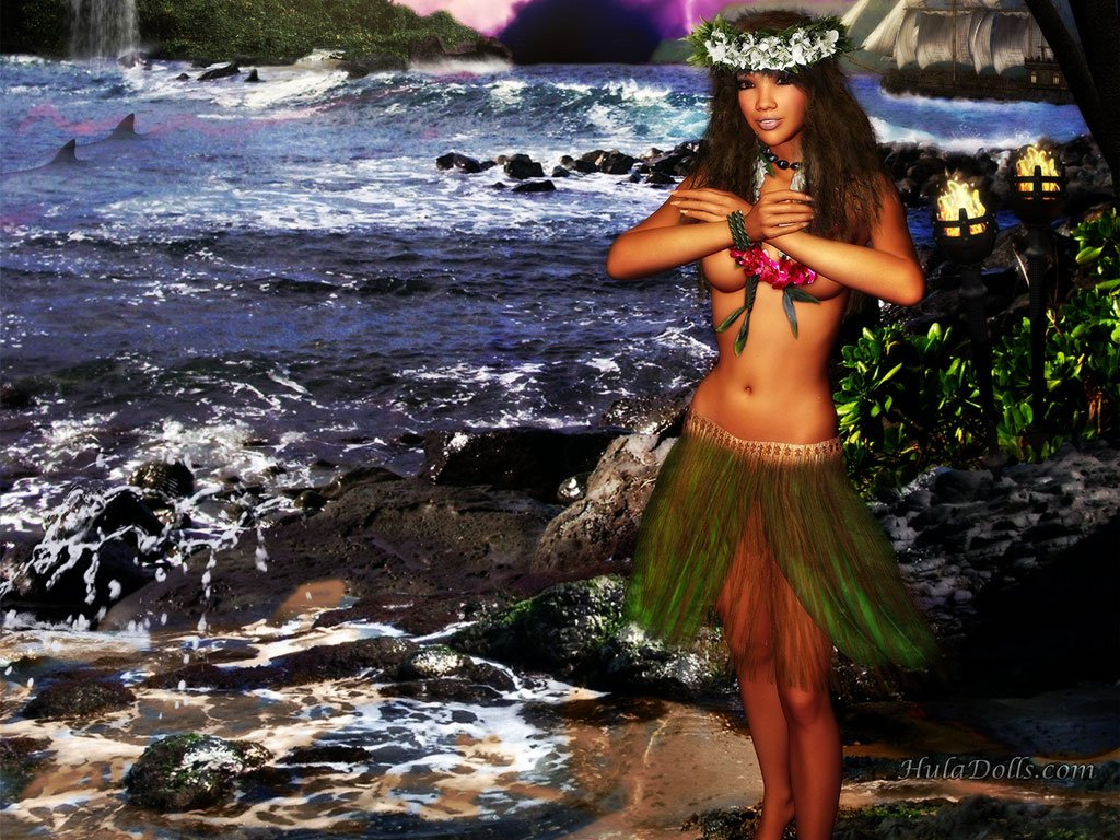 Hula Dancer Wallpaper 1024x768