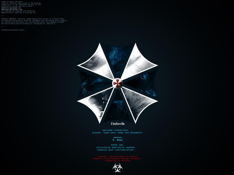 corp Blue Umbrella Video Games Resident Evil HD Desktop Wallpaper 800x600