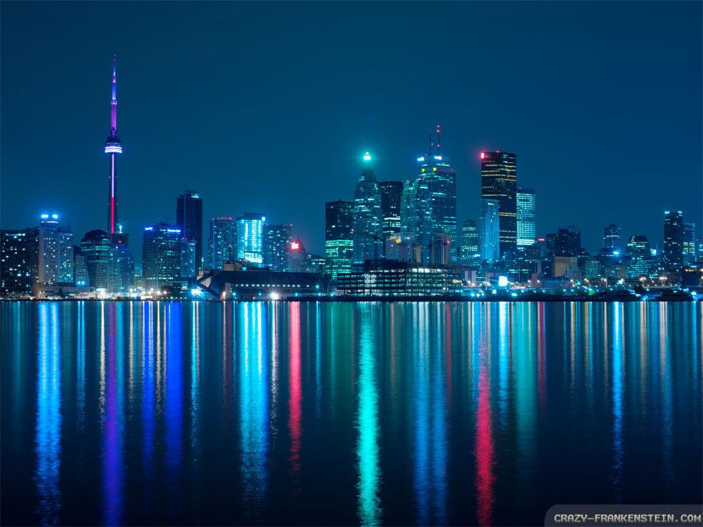 Wallpaper Night Toronto wallpapers 1024x768