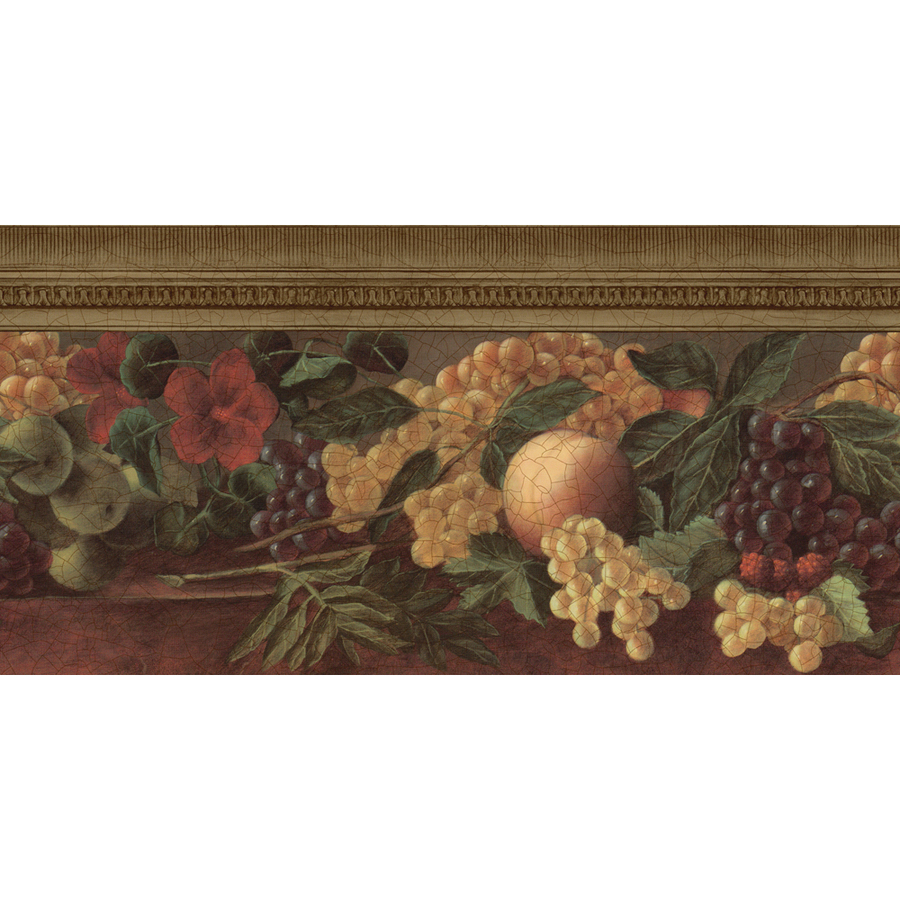 10 14 Gold Fruit And Ivy Prepasted Wallpaper Border at Lowescom 900x900