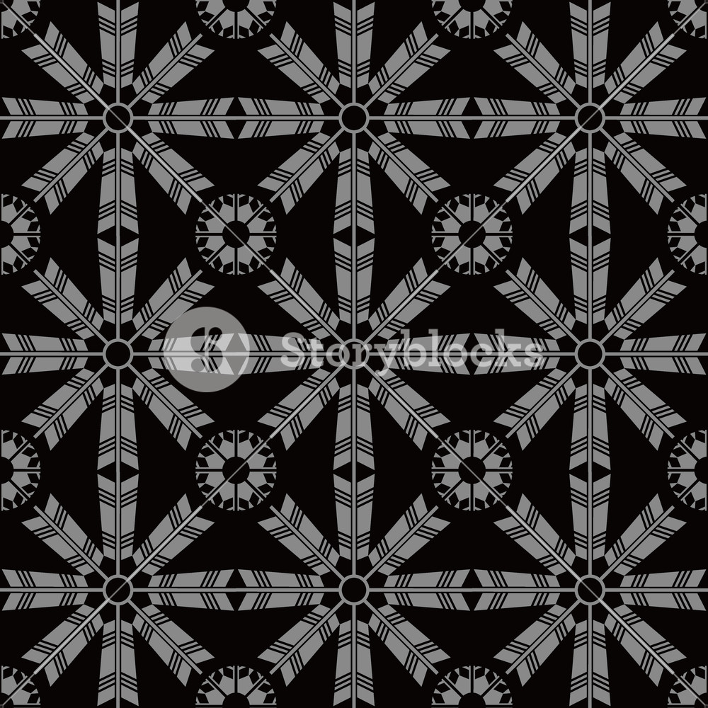 Antique seamless background Arrow Feather Cross Flower Ideal for 1000x1000