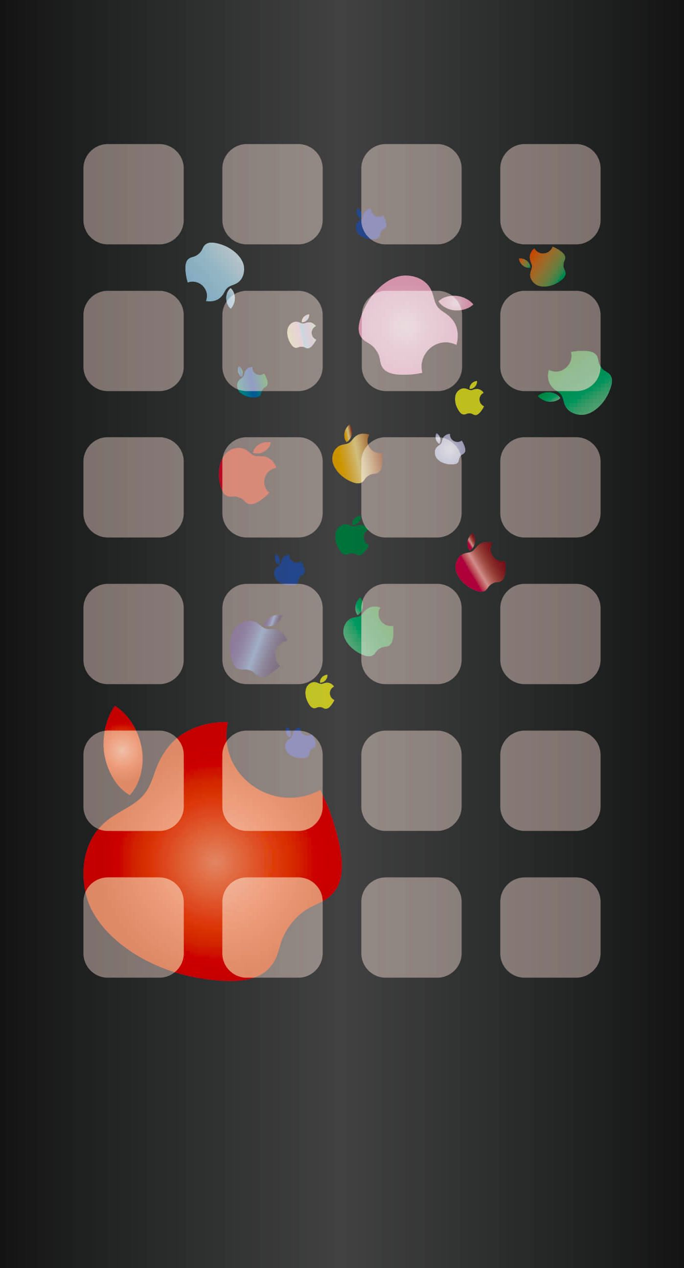 Shelf Apple logo black wallpapersc iPhone7Plus 1398x2592