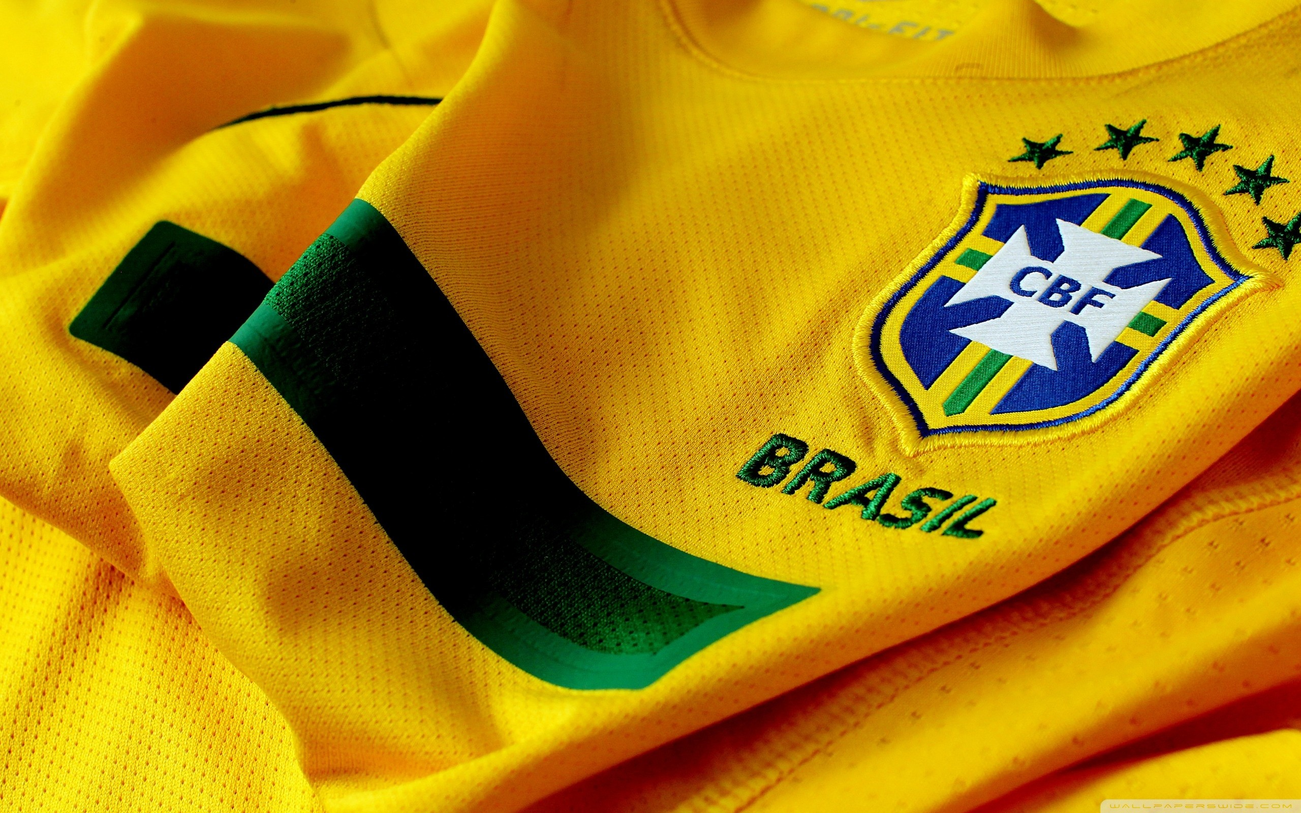 Brazil Soccer Shirt And Logo Wallpapers HD Desktop and 2560x1600