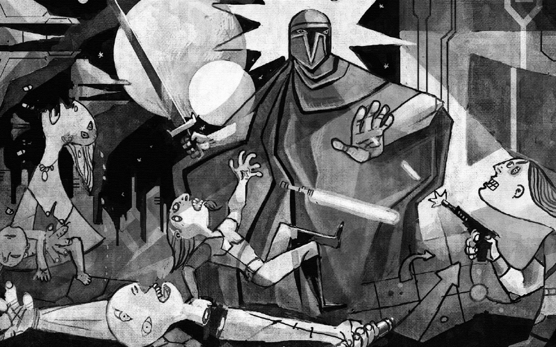 Star Wars Clone Wars meets Picassos Guernica via Empire Online 1920x1200