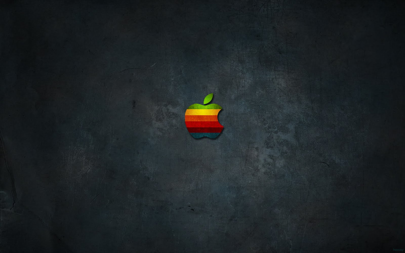 Colored logo and Apple Mac wallpaper Hd Wallpaper 1600x1000
