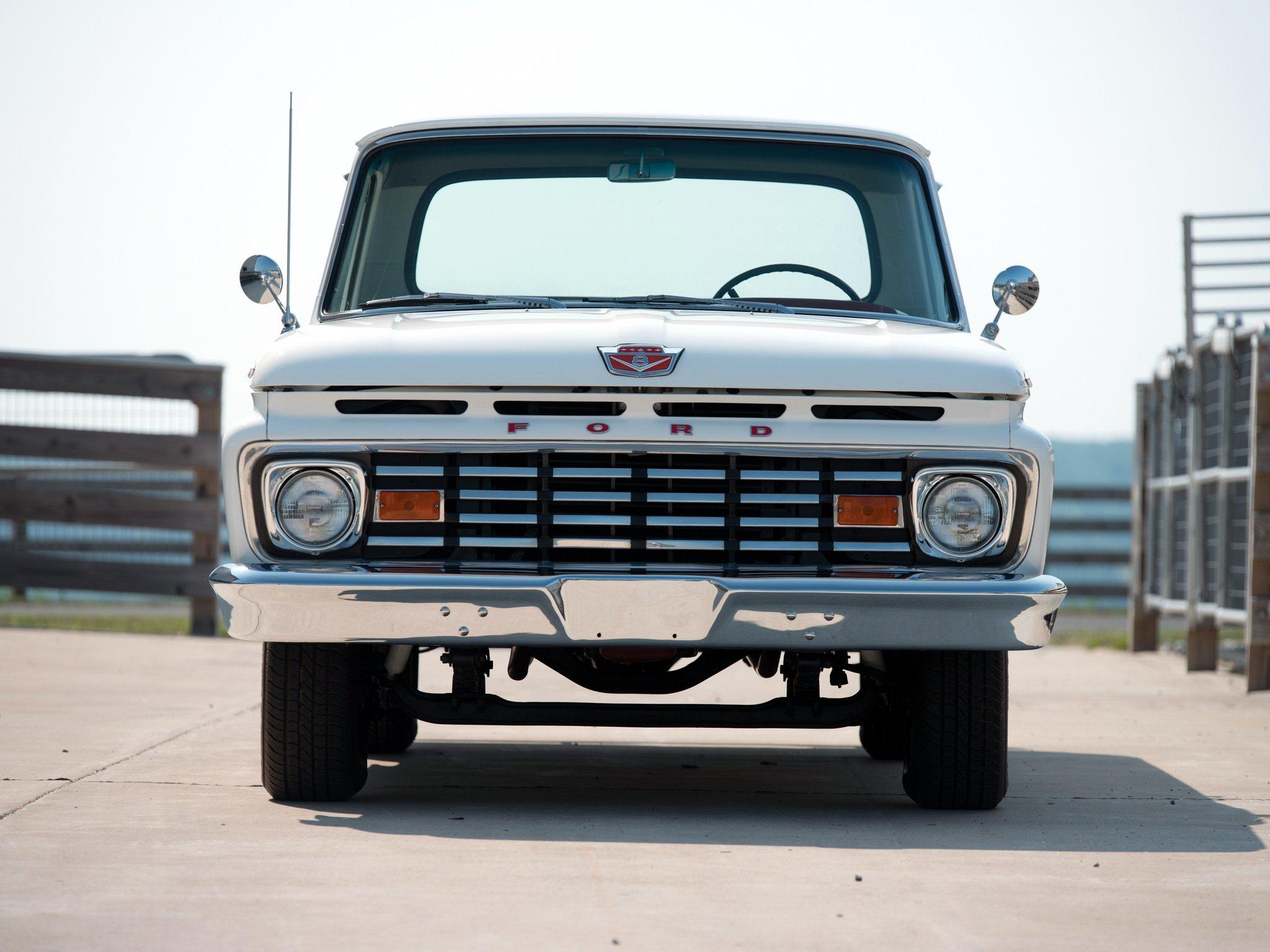 1963 Ford F 100 Custom Cab Styleside Pickup f100 classic wallpaper 2048x1536