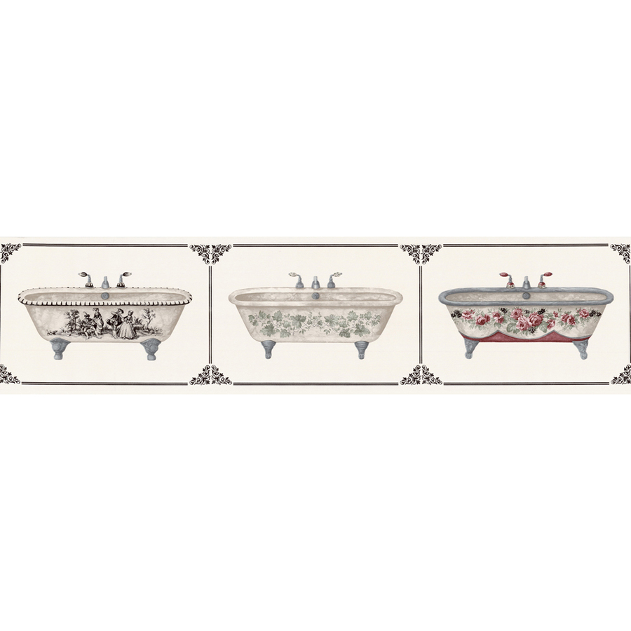 roth 6 78 Victorian Bathtubs Prepasted Wallpaper Border at Lowescom 900x900