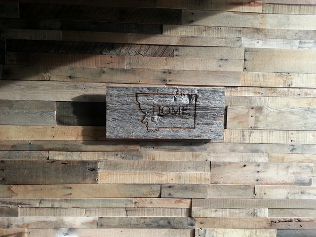 Recycled pallet and reclaimed wood paneling   Rustic   Wall Panels 640x480