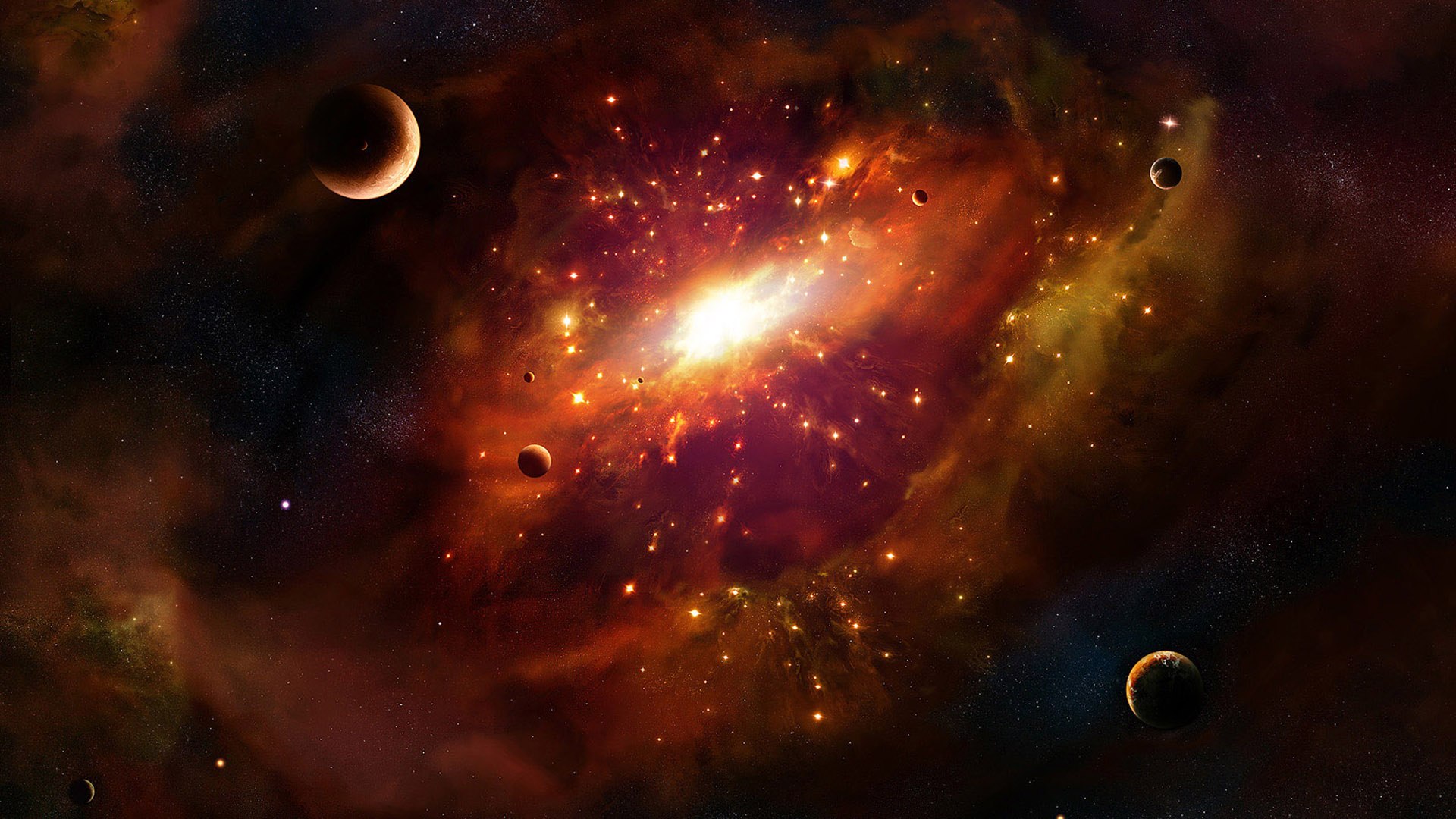 Outer Space Wallpaper 1920x1080 Outer, Space, Stars, Planets