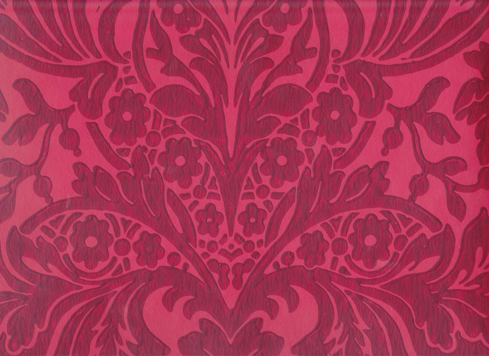 Historic Reproduction Wallpaper 18th 19th Century Red Damask eBay 1000x728