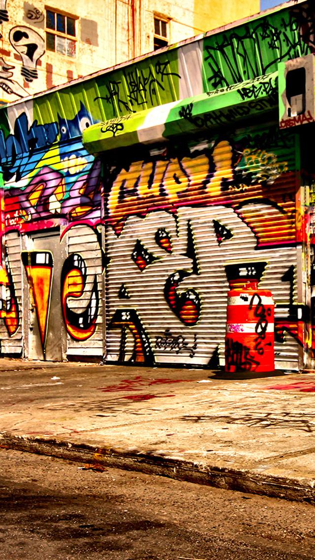 graffiti street iPhone 5 Wallpaper 640x1136 640x1136