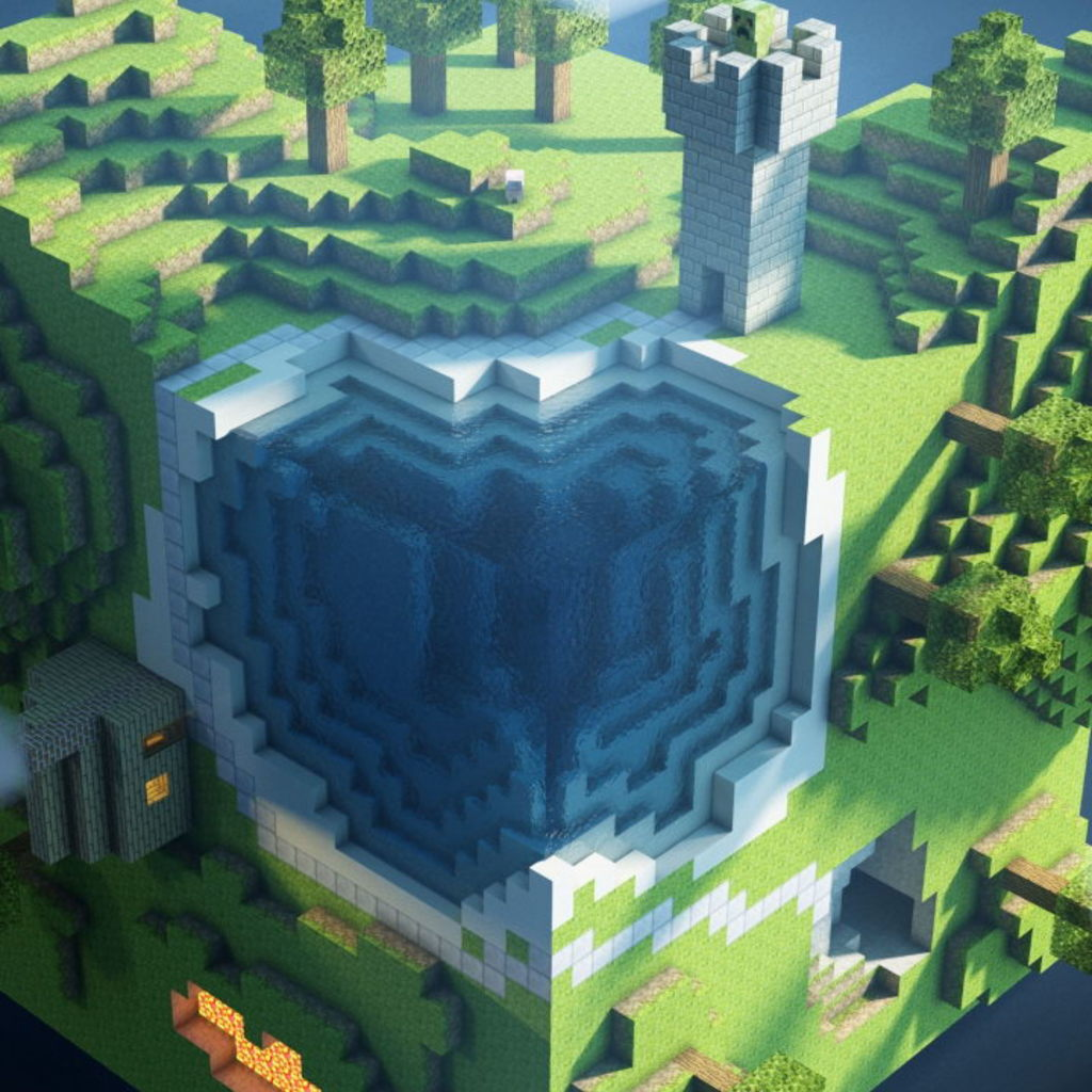 Minecraft World Wallpaper for Apple iPad Mini 1024x1024