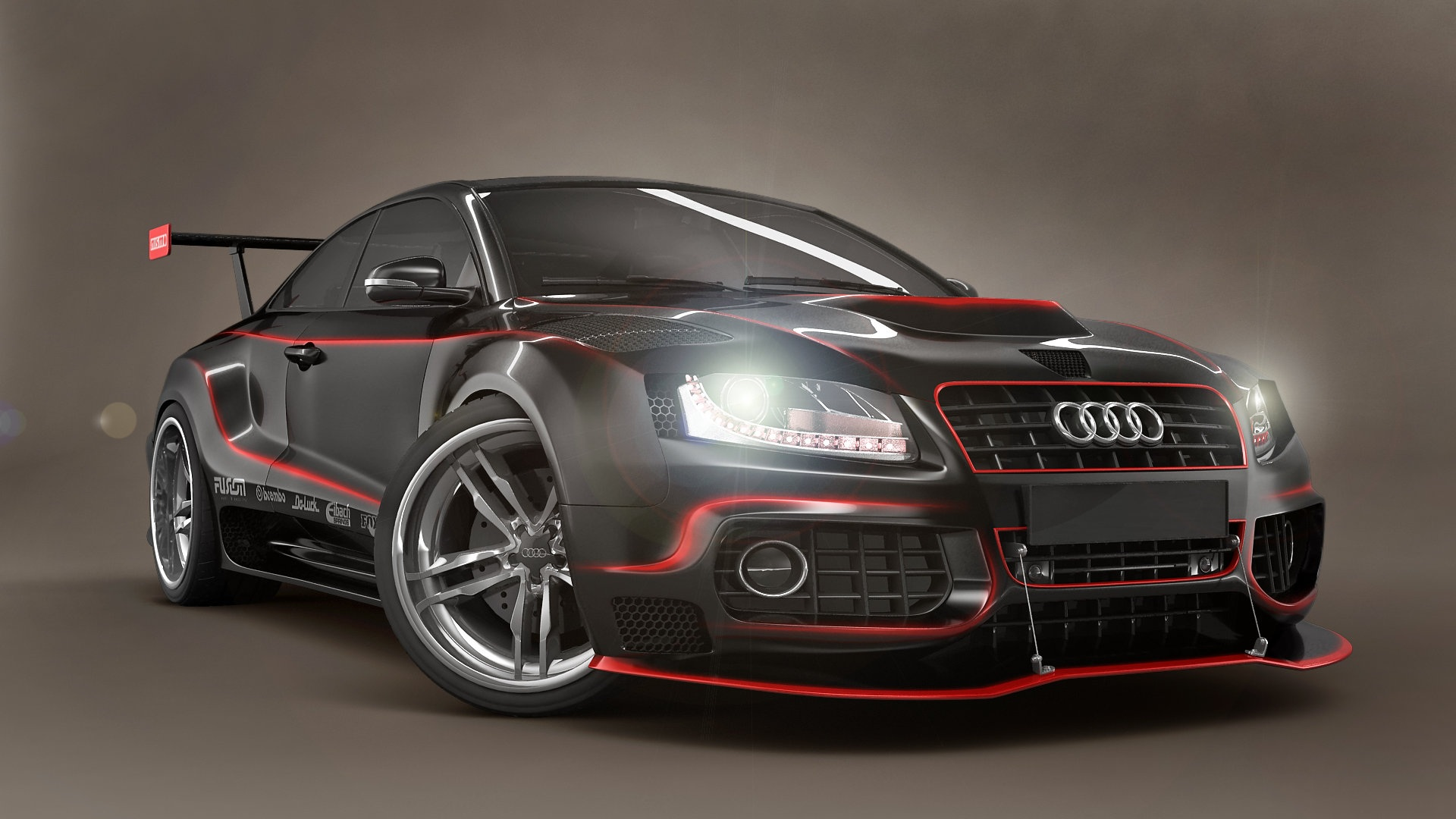 Black and red car wallpaper wallpapersafari audi black and red tuning voltagebd Image collections