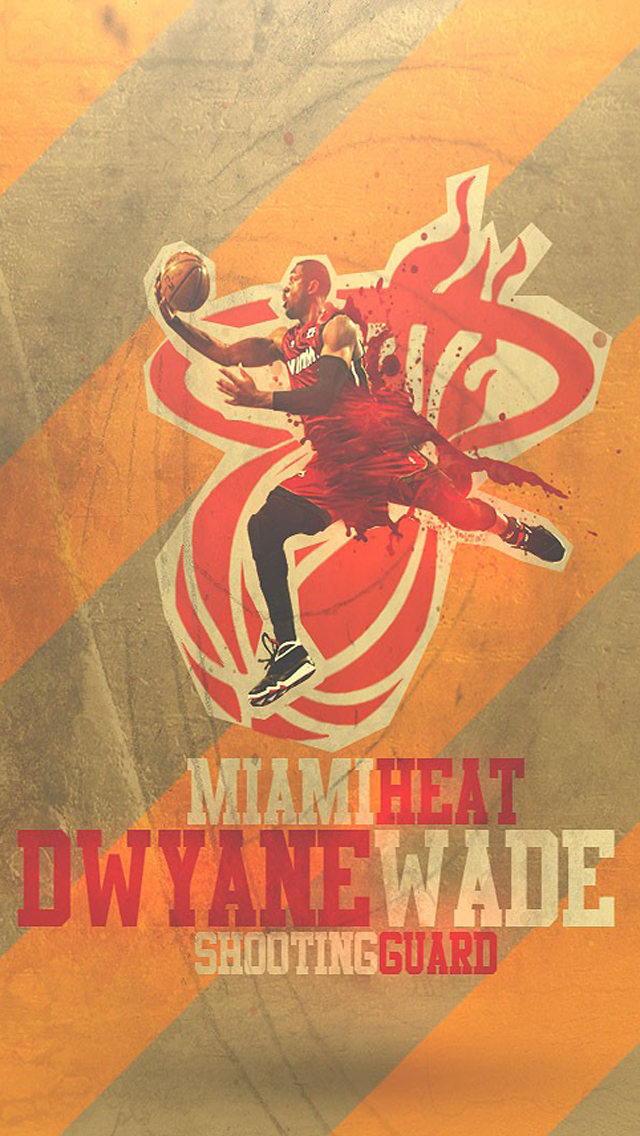 Miami Heat Dwyane Wade Wallpaper   iPhone Wallpapers 640x1136