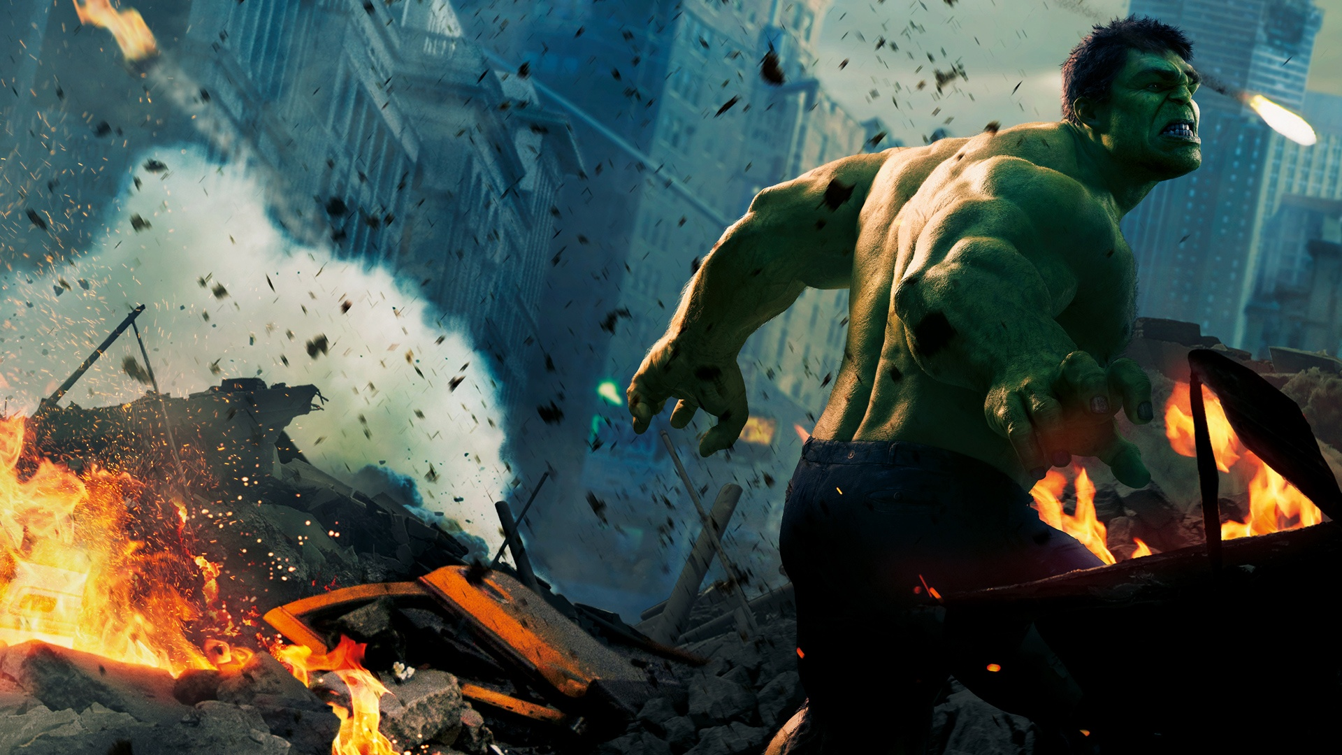 Hulk The Hulk Avengers Fire HD wallpaper movies and tv series 1920x1080
