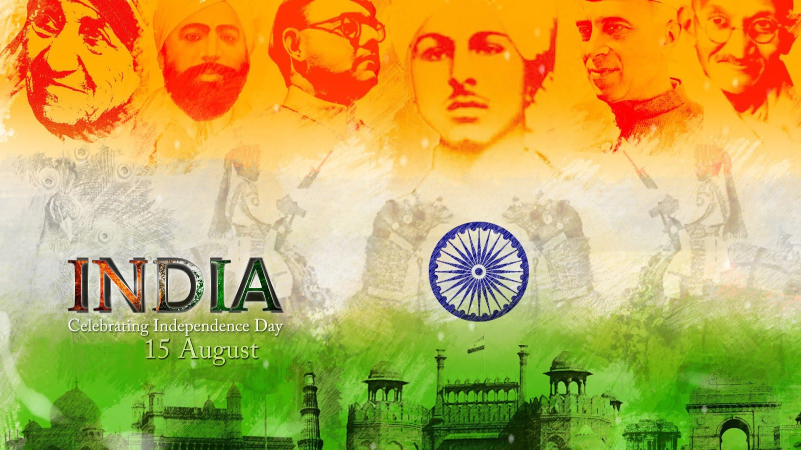 15 August Images and HD Pictures Independence Day 1600x900