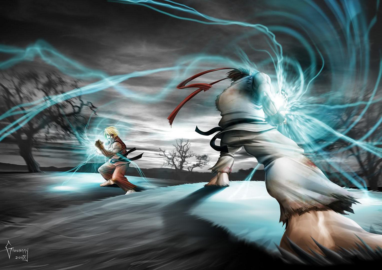 Ken And Ryu Fireballs   Street Fighter 2 Wallpaper 1527x1080
