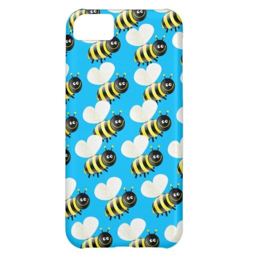 Cute Cartoon Bee Wallpaper iPhone 5C Cover Zazzle 512x512