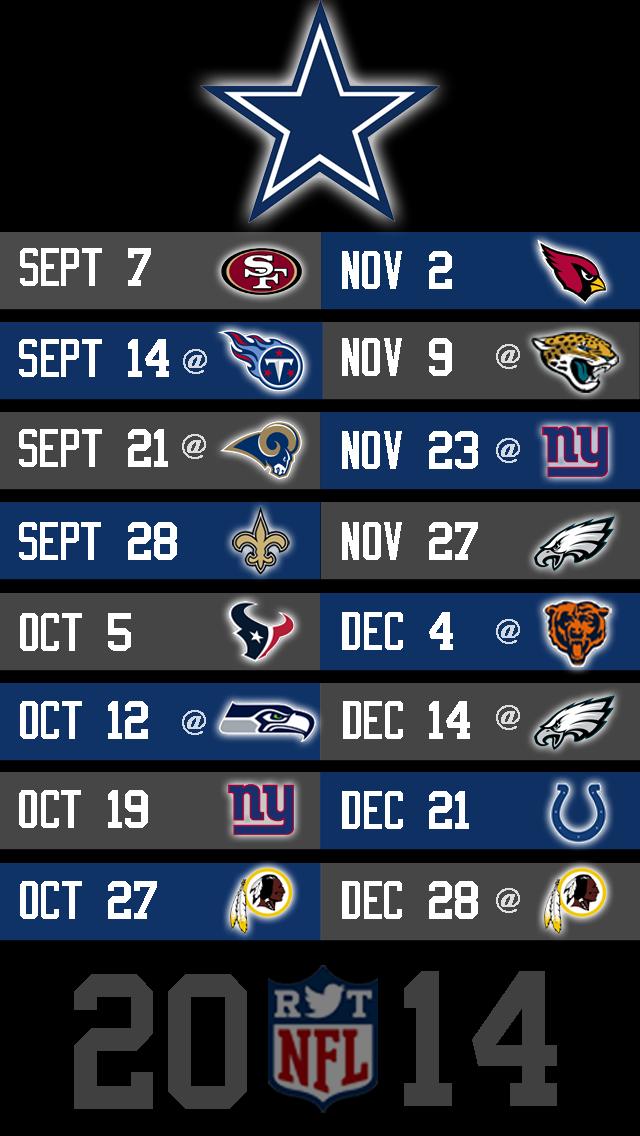 Print Dallas Cowboys Schedule 2015 Online Calendar Site 640x1136