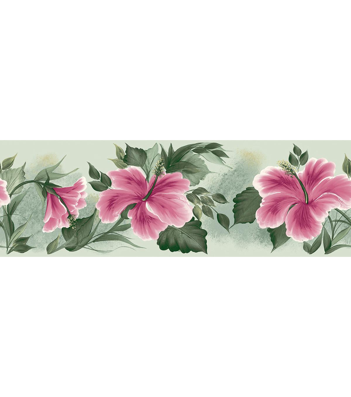 Floral Lily Pad Wallpaper Border Green Sample JOANN 1200x1360