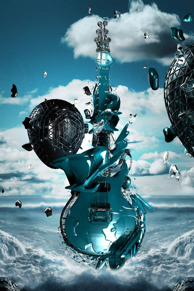 Crazy guitar iPhone wallpapers Background and Themes 640x960
