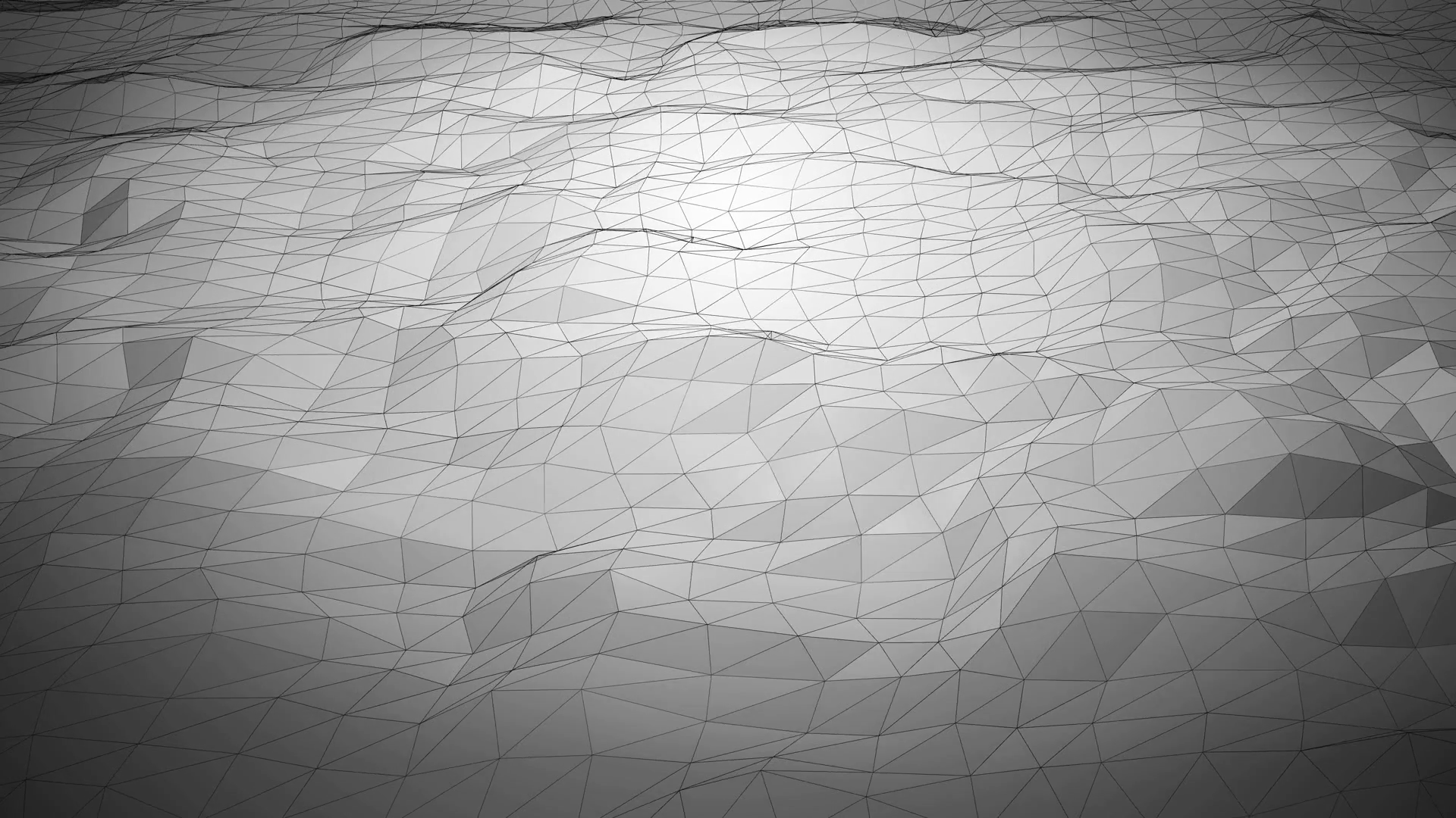 Silver abstract polygonal background with shifting wireframe lines 1920x1080