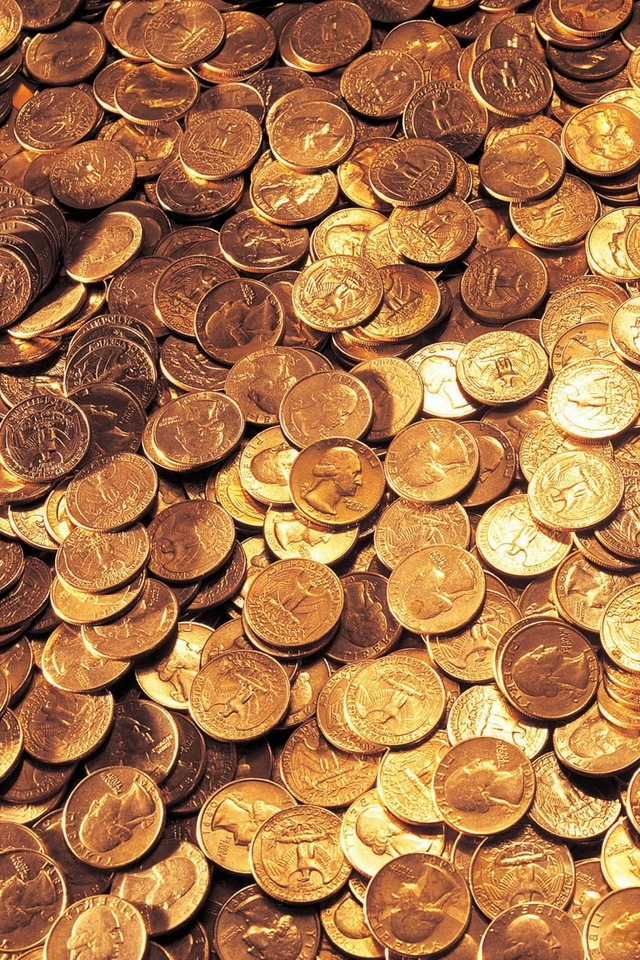 Gold Coins IPhone HD Wallpaper Download 640x960