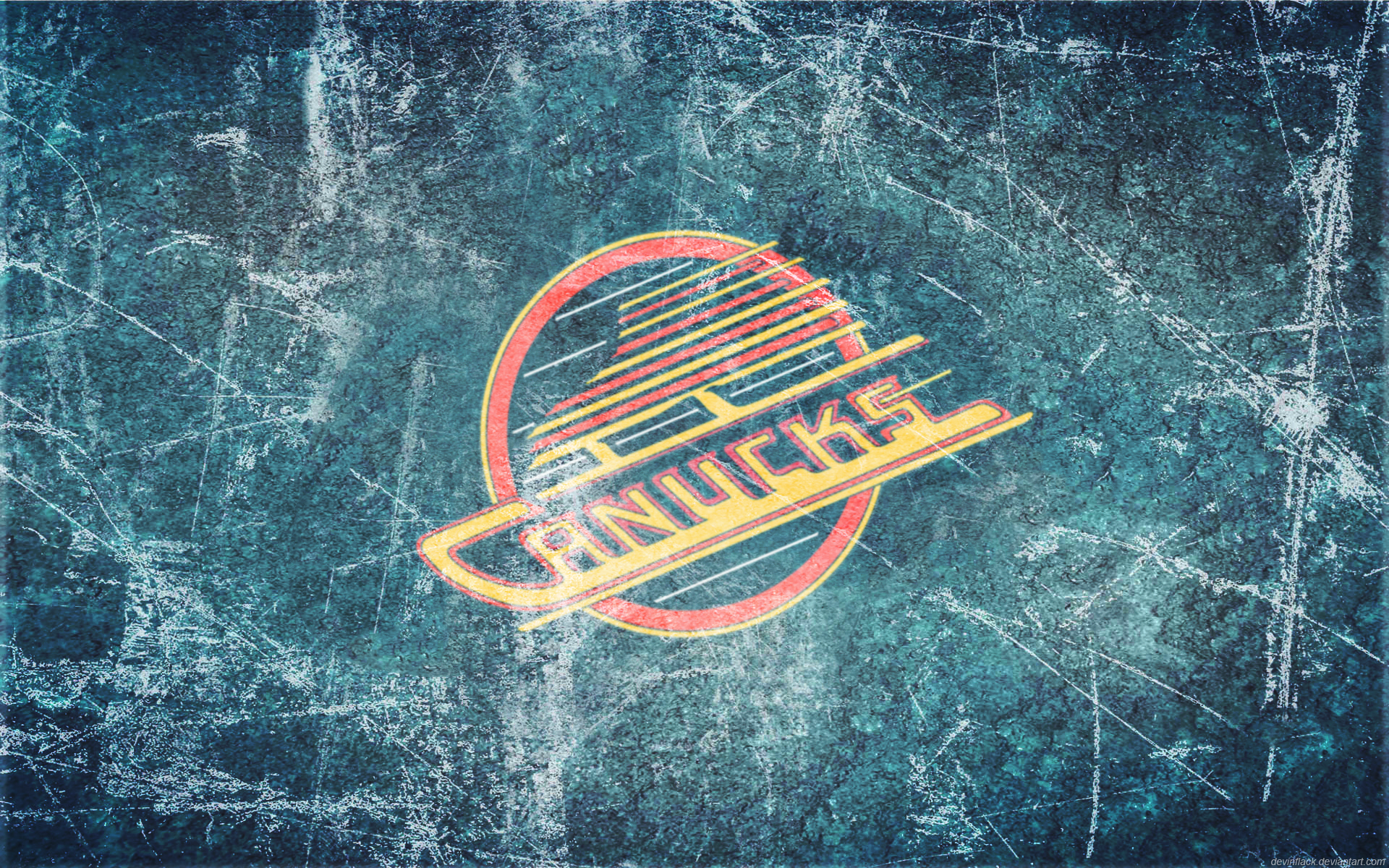 Canucks Vintage Ice Wallpaper by DevinFlack 1920x1200