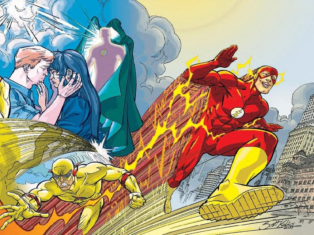 My Wallpapers   Comics Wallpaper Flash vs Zoom 1024x768