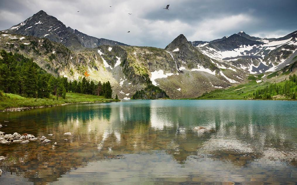 Lake Under The Mountain Screensaver Best Screensavers Download 1015x633