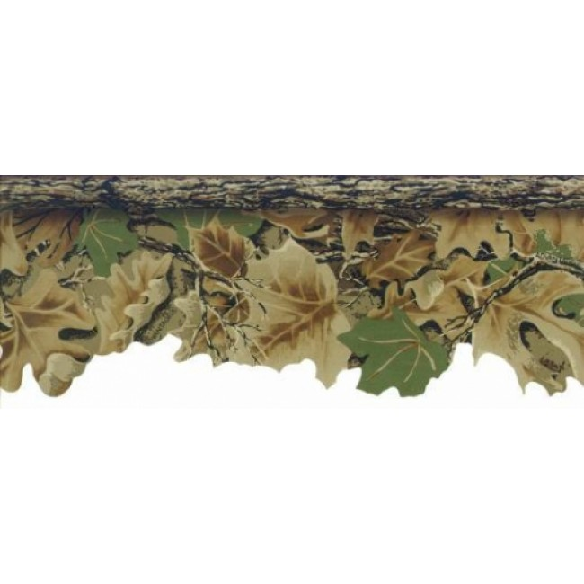 Camouflage Leaves Laser Cut Hunt Lodge Wall Border   All 4 Walls 650x650