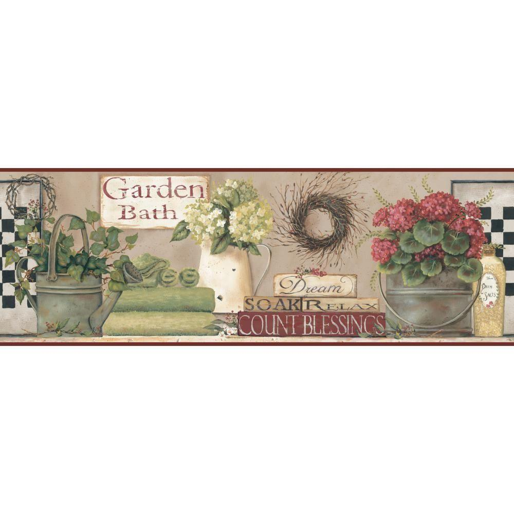 Borders York Wallcoverings Wallpaper Borders 9 in Garden Bath Border 1000x1000
