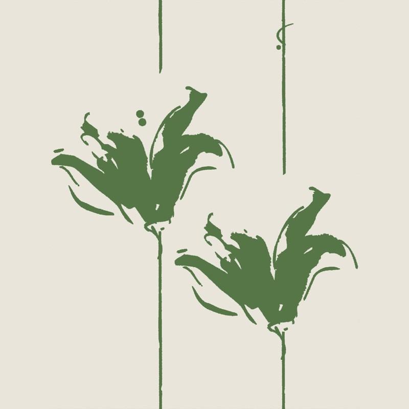 Lirios Wallpaper Green Wallpaper Buy Wallpaper Direct Online 800x800