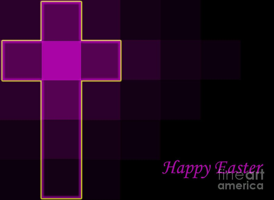 royal purple and yellow easter cross background modern design 900x658