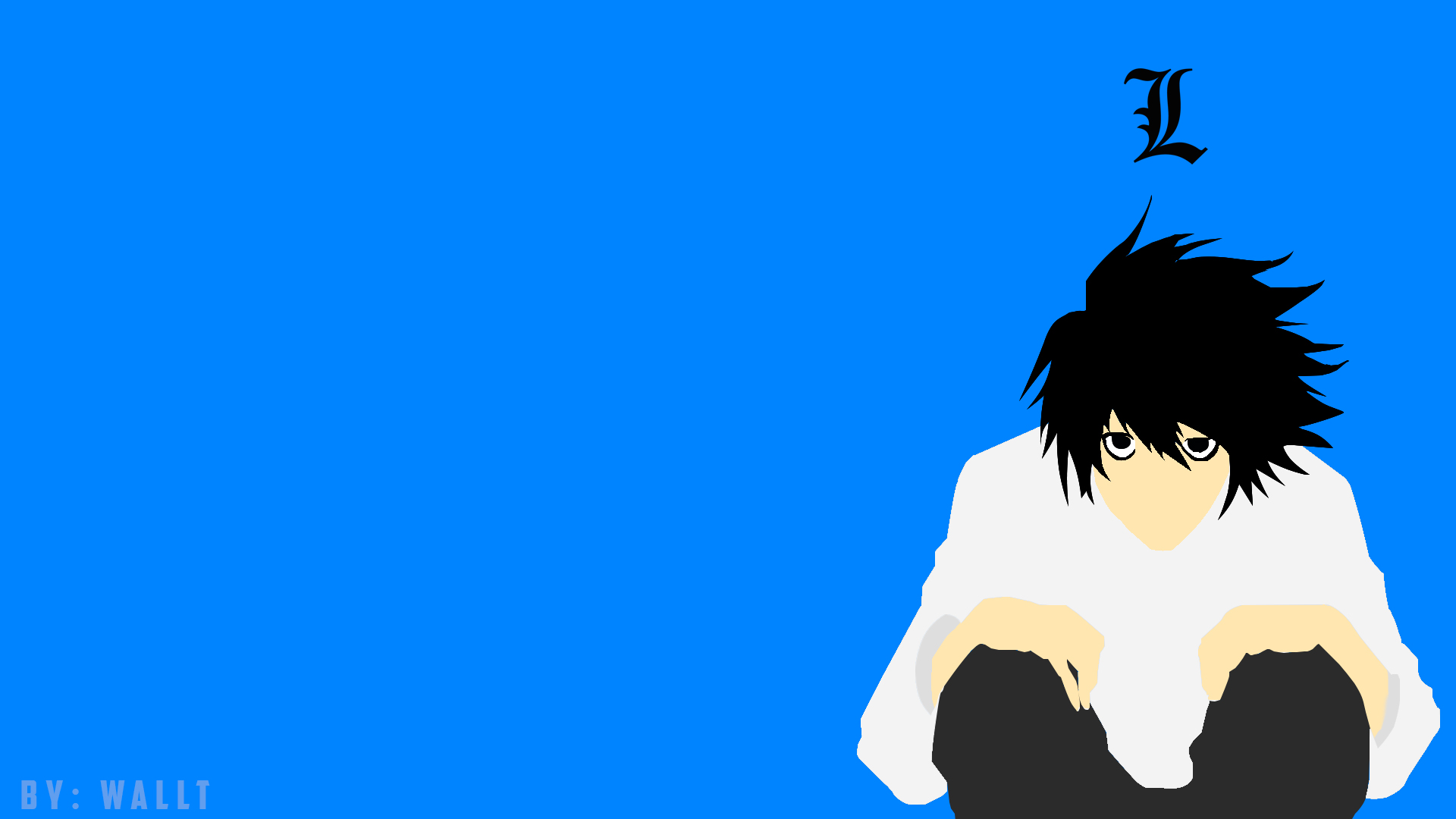 wallpaper L minimalista death note by walltgfx 1920x1080